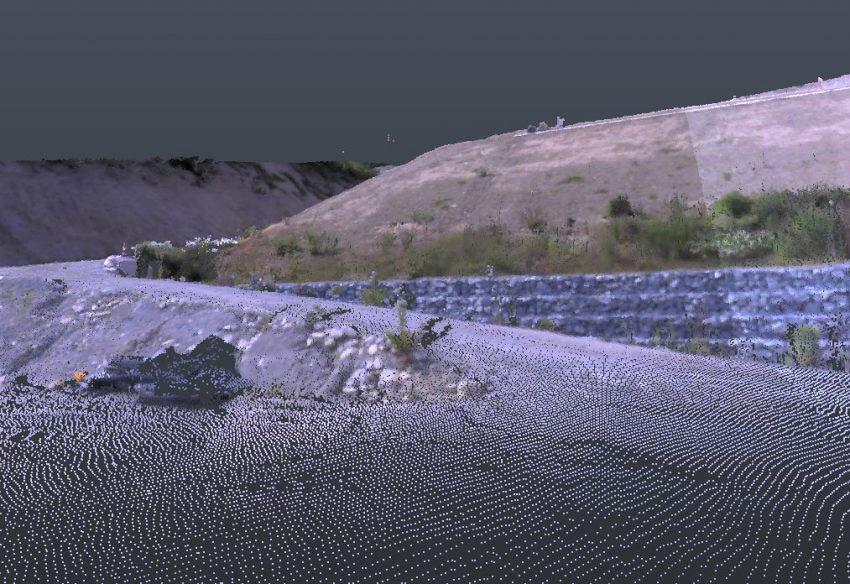 TrimbleSX10で撮影した点群データ