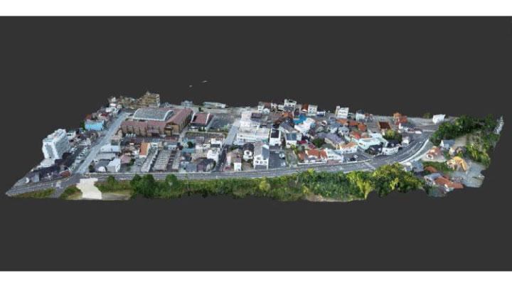 江津市街地測量の点群データ