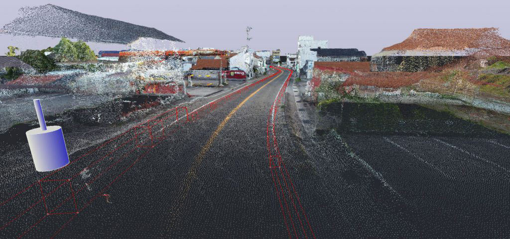 江津市街地測量のCIMイメージ