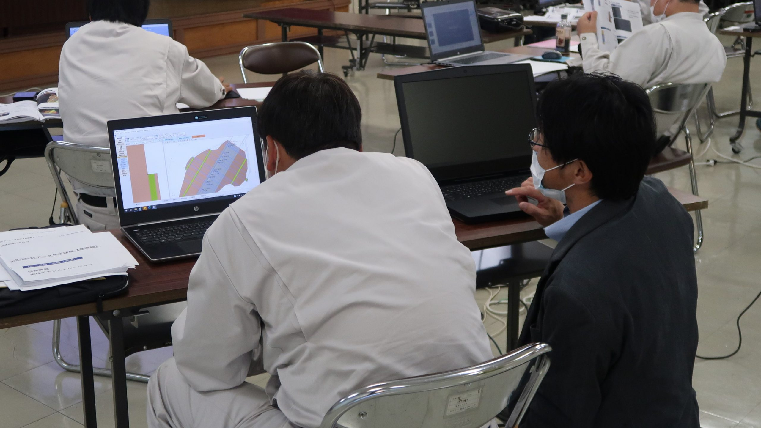 SGMが提供する3次元設計データ作成研修の受講風景の画像