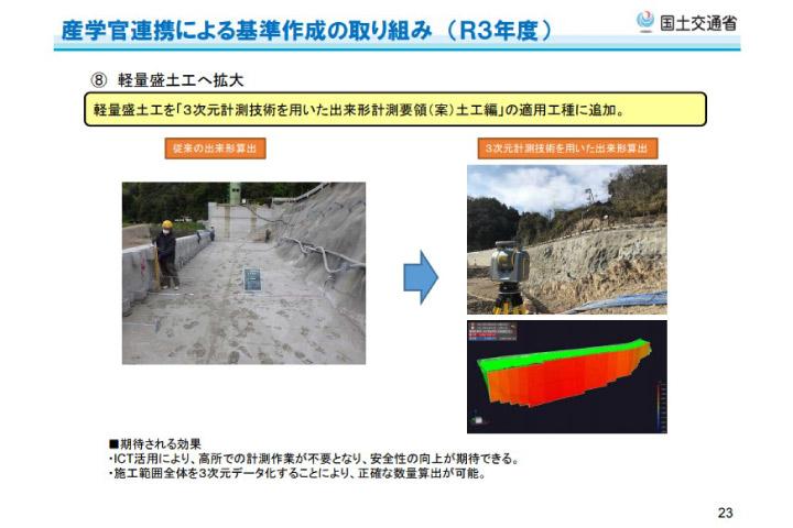 三次元計測技術を用いた出来形管理(擁壁工)